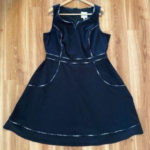 ModCloth Women's A Lot to Author Black Dress 1X
